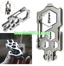Outdoor Survival Camping EDC Multi-Tool Gear Carabiner Keychain Bottle Opener BO