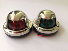 Marine Boat Yacht LED Light 12V Stainless Steel  Bow Navigation Lights One Pair