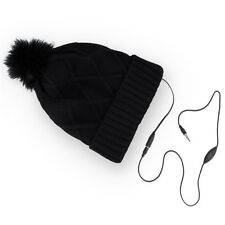 WINTER HAT BLACK DIAMONDS CAPPELLO ALLA MODA CON CUFFIE AURICOLARI LETTORE MP3