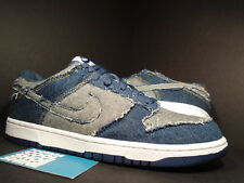 2006 Nike Dunk Low CL DENIM NAVY BLUE WHITE BLACK GREY GOLD SB 304714-441 DS 9.5