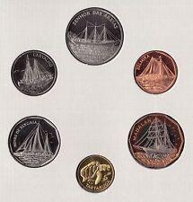 CAPE CABO VERDE - OFFICIAL SET 6 DIF UNC COINS : 1 - 100 ESCUDOS 1994 YEAR SHIPS