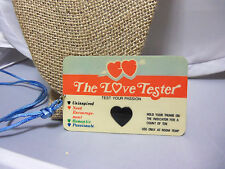 "22"" Blue Cording Necklace w. Vintage The Love Tester Novelty Card"