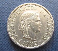 Münze 10 Rappen Schweizer Franken 1982 aus Umlauf gültiges Zahlungsmittel