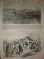 Ismaila Egypt and a Maori New Zealand Funeral ceremony 1866 old prints