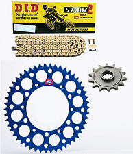 DID gold race chain & 13t/50t Renthal blue sprocket kit Yamaha WR250F 2001-2016