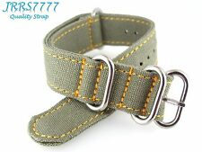 24mm Canvas Watch Strap Band Sports Military Army Green NEW Professional ZULU