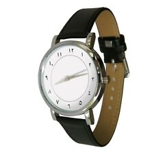 Arabic Number design watch. Genuine Leather Strap. clean classy design