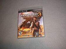 Uncharted 3 Drake's Deception Playstation 3 PS3 COMPLETE & WORKING Disc is MINT