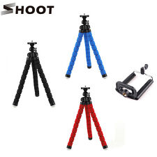 Blue Octopus Tripod Stand Bubble Sponge Pod+Phone Clip for GoPro Camcorder