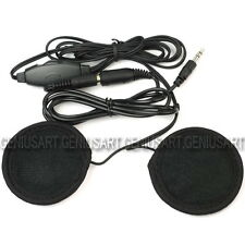 2x Auricolari Earphone Jack 3,5mm Volume Regolabile + Cavo per Moto Nero ae3d