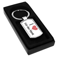 I Love Vol-Au-Vent Metal Keyring 2825