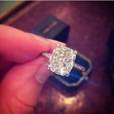 Genuine 1.37 Ct. Cushion Cut Diamond Pave Engagement Ring F,VVS1 EGL 14K WG