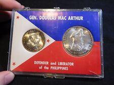 Philippines 1947-S MacArthur 50 Centavos & Peso Nice Tone
