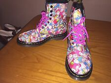 Raro Dr Martens 1460 Sanrio Hello Kitty Botas Uk 4 EU 37 punk kawaii Boho