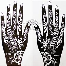 Henna Tattoo Paste Schablone Airbrush Körperkunst Linke Rechte Hand Set S 113