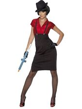 ADULT WOMENS 1920S GANGSTER COSTUME SMIFFYS 20'S RAZZLE FANCY DRESS - SMALL
