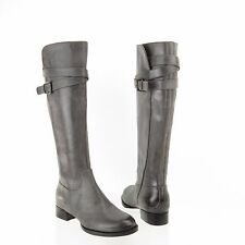 Ecco Sullivan Sullivan Tall Strap Women's Gray Leather Riding Boots Sz 35 NEW!
