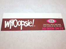 1978 Shelf Talker Store DisplayWhoopsie/Ideal toys sign poster doll advertising