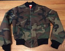 Vintage US Military Style Camouflage Zipper Jungle Jacket. Size 14 Made In USA.