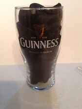 GUINNESS Pint Glass Rugby 2006/07 Season GOLD / WHITE lettering Used