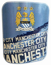 Manchester City FC Impact Fleece Blanket Official Football Club Throw 125x150cm