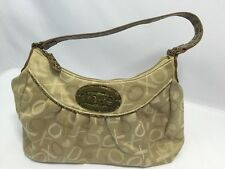 XOXO Purse Shoulder Bag Hobo Handbag Gold 1 Large 1 Zipper 2 Small Inside Pocket