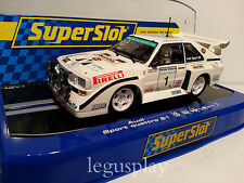 Slot SCX Scalextric Superslot H3487 Audi Sport Quattro S1 Rally Ulster 1985 Nº1