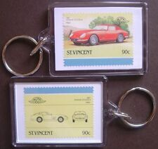 1967 FERRARI 275 GTB/4 Car Stamp Keyring (Auto 100 Automobile)