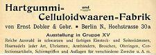 Ernst Dobler & Gebr. caucho duro & celluloidwaaren histórica publicitarias de 1896