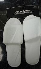 Open Toe House Slippers 8 -9 (L)  LARGE Rubber Bottom Bathroom Shoes