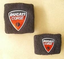 DUCATI RESERVOIR COVERS SOCK WRISTBAND PAIR BLACK 996 999 959 1299 HYPER MULTI