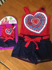 Girls Size 6 NWT Dollie Me Girls Romper Summer Dress American Girl Doll Clothes