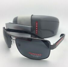 Polarized PRADA Sports Sunglasses SPS 54I 5AV-5Z1 65-14 Gunmetal Frame w/ Grey