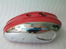 NEW BSA C15 CHROMED AND RED PAINTED GAS FUEL TANK (REPRODUCTION) @VINTAGE