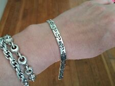 Sterling silver bracelet mexico heart puzzle 950