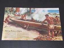 Vintage GM 1957 Pontiac Indian Dealership Advertising Print Dealer Poster Ad