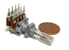 NOBLE Dual 25K Ohm A LOG 30x Detents Center (4K) Tap Potentiometer NOS Vol Audio