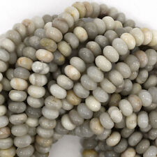 """8mm cream crazy lace agate rondelle beads 16"""" strand"""