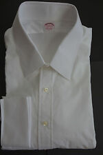 NWT Brooks Brothers White Point Collar French Cuff Shirt 19-34.5 Slim USA