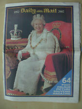 VINTAGE NEWSPAPER DAILY MAIL 64 PAGE SOUVENIR OF QUEENS GOLDEN JUBILEE 1952-2002