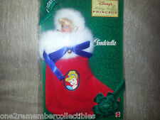 Disney CINDERELLA DOLL In CHRISTMAS STOCKING Princess Holiday 1997 AVON MATTEL