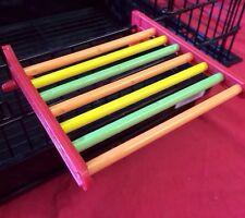 Landing Platform Perch Multi Coloured Budgie Canary Finch Cockatiel Parakeet