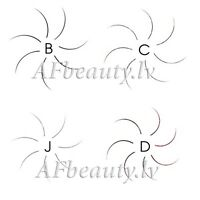 Individual Premium Silk EYELASHES for extension, J,B,C,D-curl