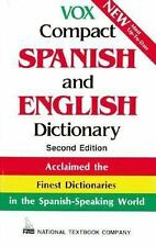 Vox Compact Spanish and English Dictionary, Vox, Light wear to cover. Spine is c