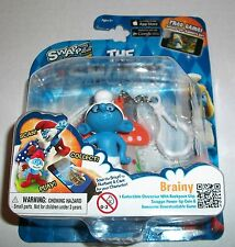 The Smurfs Swaps BRAINY Figure Clip-For iOS & Android Smurf World Game App NEW