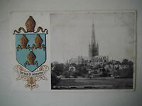 Norwich Cathedral with Embossed Coat of Arms Early 1900s Old Postcard 1910