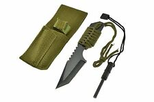 """New 7"""" Survival Camping Hunting Knife  with  Flint Fire Starter * US SHIPPER *"""