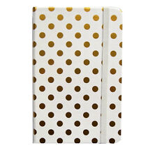 "Casebound Pocket Notebook - ""Gold Polka Dot"" - 160 Pages - Size 140mm x 90m"