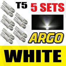 5 X SETS T5 286 LED ULTRA WHITE DASHBOARD LIGHT BULBS XENON 12V LAMP DIALS CAR