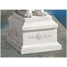 "Design Toscano Exclusive Resin Faux Stone 13"" Lion Of Florence Sentinel Base"